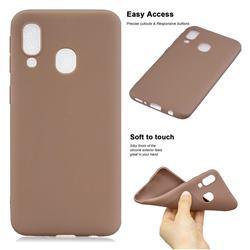 Soft Matte Silicone Phone Cover for Samsung Galaxy A20e - Khaki