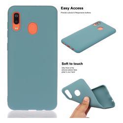 Soft Matte Silicone Phone Cover for Samsung Galaxy A20e - Lake Blue
