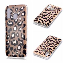 Leopard Galvanized Rose Gold Marble Phone Back Cover for Samsung Galaxy A20e