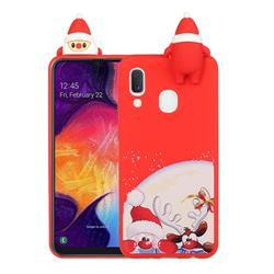 Santa Claus Elk Christmas Xmax Soft 3D Doll Silicone Case for Samsung Galaxy A20e
