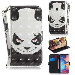 Angry Bear 3D Painted Leather Wallet Phone Case for Samsung Galaxy A20e