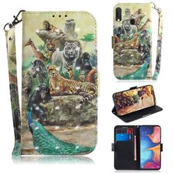 Beast Zoo 3D Painted Leather Wallet Phone Case for Samsung Galaxy A20e