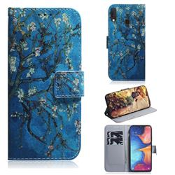 Apricot Tree PU Leather Wallet Case for Samsung Galaxy A20e