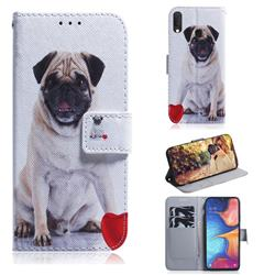 Pug Dog PU Leather Wallet Case for Samsung Galaxy A20e
