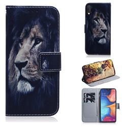 Lion Face PU Leather Wallet Case for Samsung Galaxy A20e