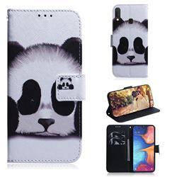Sleeping Panda PU Leather Wallet Case for Samsung Galaxy A20e