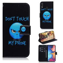 Not Touch My Phone PU Leather Wallet Case for Samsung Galaxy A20e