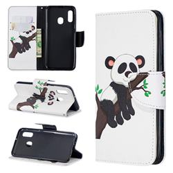 Tree Panda Leather Wallet Case for Samsung Galaxy A20e