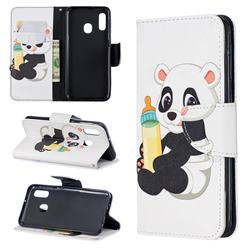 Baby Panda Leather Wallet Case for Samsung Galaxy A20e