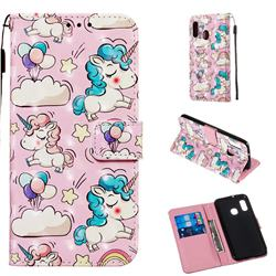 Angel Pony 3D Painted Leather Wallet Case for Samsung Galaxy A20e