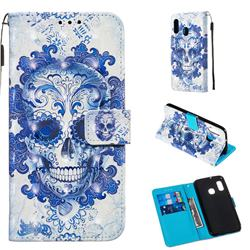 Cloud Kito 3D Painted Leather Wallet Case for Samsung Galaxy A20e