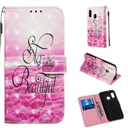 Beautiful 3D Painted Leather Wallet Case for Samsung Galaxy A20e