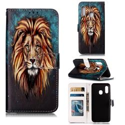 Ice Lion 3D Relief Oil PU Leather Wallet Case for Samsung Galaxy A20e
