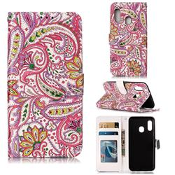 Pepper Flowers 3D Relief Oil PU Leather Wallet Case for Samsung Galaxy A20e