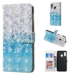 Sea Sand 3D Painted Leather Phone Wallet Case for Samsung Galaxy A20e
