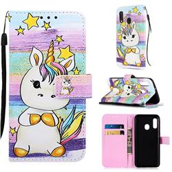 Spiral Pony Matte Leather Wallet Phone Case for Samsung Galaxy A20e