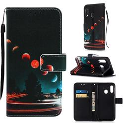 Wandering Earth Matte Leather Wallet Phone Case for Samsung Galaxy A20e