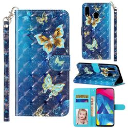 Rankine Butterfly 3D Leather Phone Holster Wallet Case for Samsung Galaxy A20e