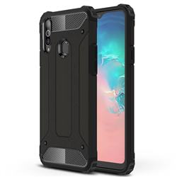 King Kong Armor Premium Shockproof Dual Layer Rugged Hard Cover for Samsung Galaxy A20s - Black Gold