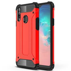 King Kong Armor Premium Shockproof Dual Layer Rugged Hard Cover for Samsung Galaxy A20s - Big Red