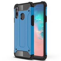 King Kong Armor Premium Shockproof Dual Layer Rugged Hard Cover for Samsung Galaxy A20s - Sky Blue