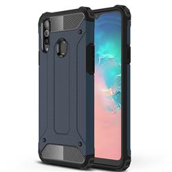 King Kong Armor Premium Shockproof Dual Layer Rugged Hard Cover for Samsung Galaxy A20s - Navy