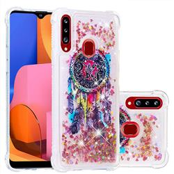 Seal Wind Chimes Dynamic Liquid Glitter Sand Quicksand Star TPU Case for Samsung Galaxy A20s