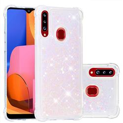 Dynamic Liquid Glitter Sand Quicksand Star TPU Case for Samsung Galaxy A20s - Pink