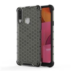 Honeycomb TPU + PC Hybrid Armor Shockproof Case Cover for Samsung Galaxy A20s - Gray