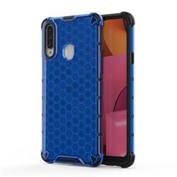 Honeycomb TPU + PC Hybrid Armor Shockproof Case Cover for Samsung Galaxy A20s - Blue