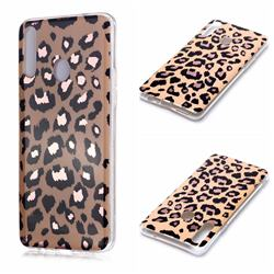 Leopard Galvanized Rose Gold Marble Phone Back Cover for Samsung Galaxy A20s