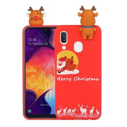 Moon Santa and Elk Christmas Xmax Soft 3D Doll Silicone Case for Samsung Galaxy A20s