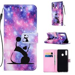 Panda Baby Matte Leather Wallet Phone Case for Samsung Galaxy A20s
