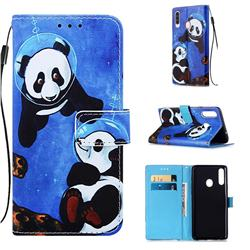 Undersea Panda Matte Leather Wallet Phone Case for Samsung Galaxy A20s