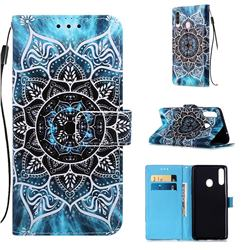 Underwater Mandala Matte Leather Wallet Phone Case for Samsung Galaxy A20s