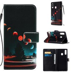 Wandering Earth Matte Leather Wallet Phone Case for Samsung Galaxy A20s