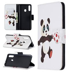 Football Panda Leather Wallet Case for Samsung Galaxy A20s