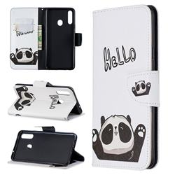 Hello Panda Leather Wallet Case for Samsung Galaxy A20s