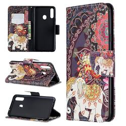 Totem Flower Elephant Leather Wallet Case for Samsung Galaxy A20s