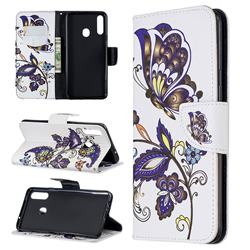 Butterflies and Flowers Leather Wallet Case for Samsung Galaxy A20s