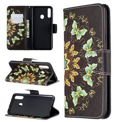 Circle Butterflies Leather Wallet Case for Samsung Galaxy A20s
