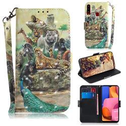 Beast Zoo 3D Painted Leather Wallet Phone Case for Samsung Galaxy A20s