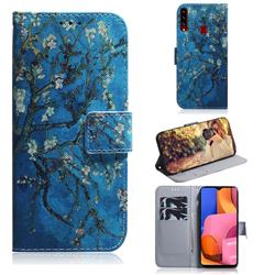 Apricot Tree PU Leather Wallet Case for Samsung Galaxy A20s