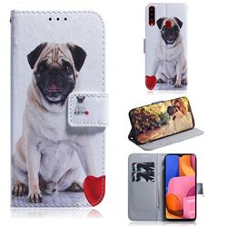 Pug Dog PU Leather Wallet Case for Samsung Galaxy A20s