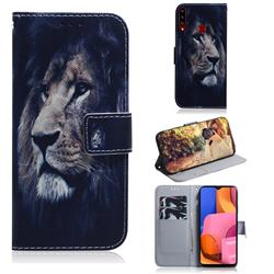 Lion Face PU Leather Wallet Case for Samsung Galaxy A20s