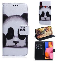 Sleeping Panda PU Leather Wallet Case for Samsung Galaxy A20s