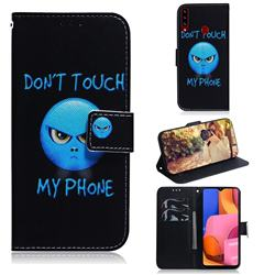 Not Touch My Phone PU Leather Wallet Case for Samsung Galaxy A20s