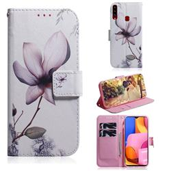 Magnolia Flower PU Leather Wallet Case for Samsung Galaxy A20s