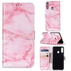 Pink Marble PU Leather Wallet Case for Samsung Galaxy A20s