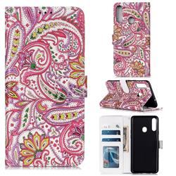 Pepper Flowers 3D Relief Oil PU Leather Wallet Case for Samsung Galaxy A20s